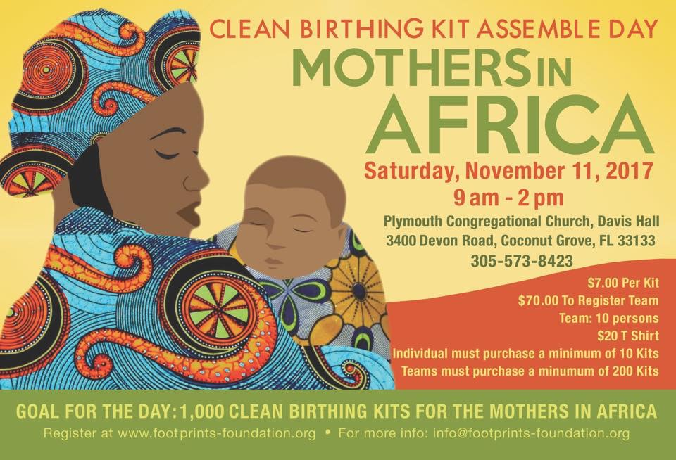 CLEAN BIRTHING KITS ASSEMBLY PLYMOUTH CONGREGATIONAL CHURCH